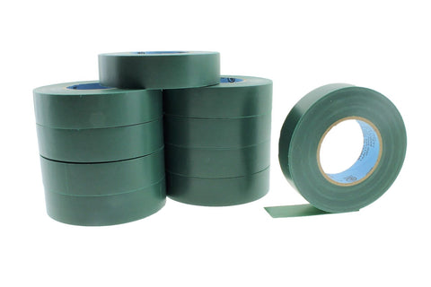"10pk 3/4"" .75 GREEN Heavy Electrical Tape Wiring Labeling PVC Vinyl Contractor"