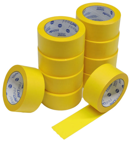 "10x IPG 2"" Yellow Clean Release Fine Line Razor Precision Painters Masking Tape"