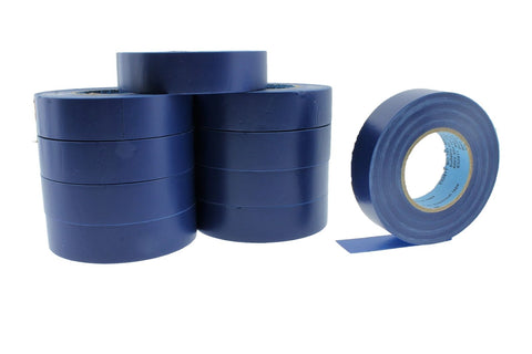 "10pk 3/4"" .75 BLUE Heavy Electrical Tape Wiring Labeling PVC Vinyl Contractor"