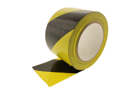 "3"" Black Yellow Stripe Vinyl Tape Electrical Sealing Floor OSHA Safety Marking"
