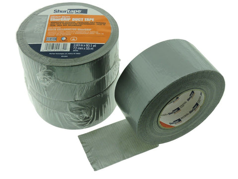 "3x ShurTape PC599 Silver Gray 9 mil 3"" Cloth Duct Tape Water UV Resistant 60yd"