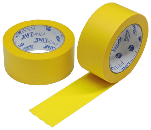 "2x IPG 2"" Yellow Clean Release Fine Line Razor Precision Painters Masking Tape"