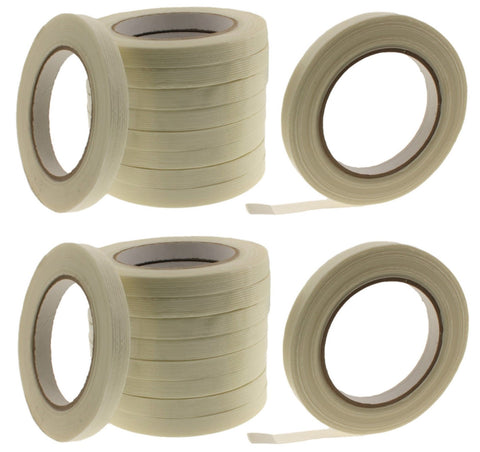 "20x 1/2"" Glass Filament Reinforced Fiberglass Strapping Tape Packaging Shipping"