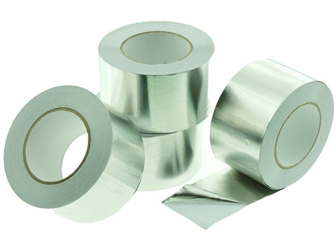 "4x 3"" HVAC Heating A/C Duct Sealing High Temp Adhesive Aluminum Foil Tape 50yd"