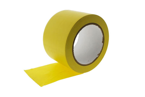 "3"" Yellow PVC Rubber Vinyl Tape Electrical Sealing Floor OSHA Safety Marking 36y"