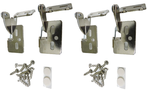 "4 Self Closing Hidden Concealed Cabinet Hinge 1/2"" Overlay Nickel Youngdale #6"