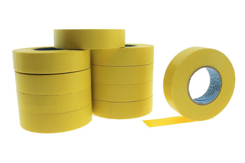 "10pk 3/4"" .75 YELLOW Heavy Electrical Tape Wiring Labeling PVC Vinyl Contractor"