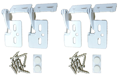 "4 Self Closing Hidden Concealed Cabinet Hinge 1/2"" Overlay White Youngdale #6"