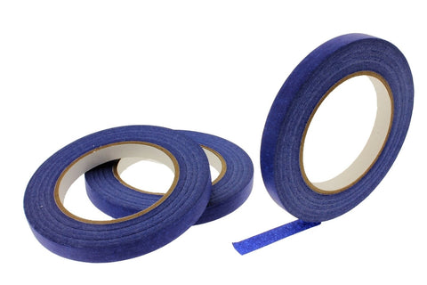 "3 PROFESSIONAL GRADE 1/2"" Blue Painters Masking Trim Edge Tape 180' 60 yd roll"