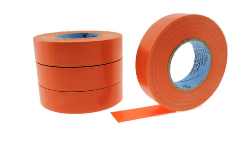 "4pk 3/4"" .75 ORANGE Heavy Electrical Tape Wiring Labeling PVC Vinyl Contractor"