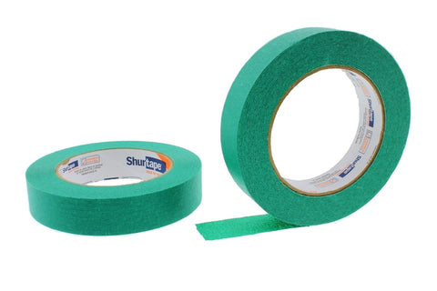 "2x 1"" Green Painters Masking Tape Painting Home Craft Scrapbooking School Office"