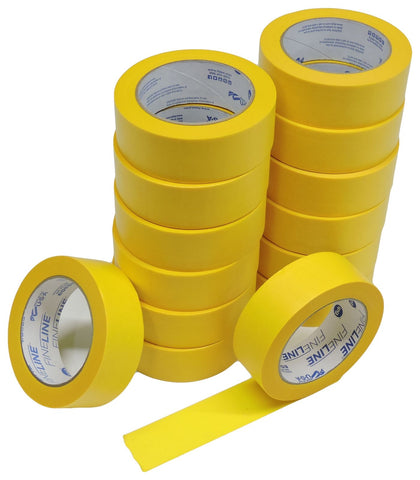 "16 IPG 1.5"" FINELINE Yellow Clean Release Razor Precision Painters Masking Tape"