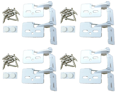 "8 Self Closing Hidden Concealed Cabinet Hinge 1/2"" Overlay White Youngdale #65"