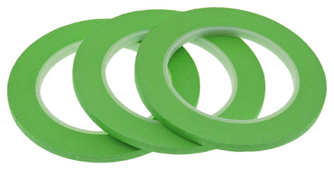 3x 1/4 Light Green Painters Masking Tape Painting Art Scrapbooking School Office