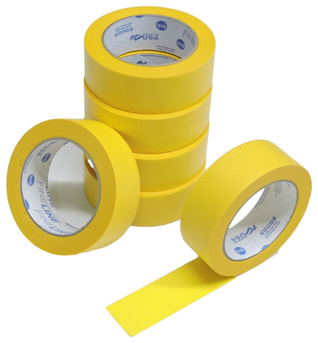 "6 IPG 1.5"" Fine Line Frog Yellow Painters Tape Precision Mask Floor Cabinet Trim"