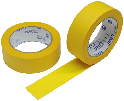"2x IPG 1.5"" FINELINE Yellow Clean Release Razor Precision Painters Masking Tape"
