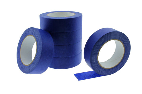 "6x 1.5"" Blue Painters Masking Tape Walls Trim Floor Auto Glass UV Outdoor 21 Day"