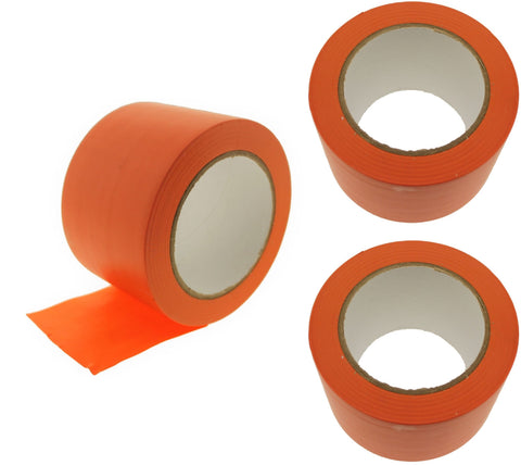 "3x 3"" Orange PVC Rubber Vinyl Tape Electrical Sealing Floor OSHA Safety Marking"