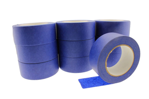 "10x 2"" Blue Painters Masking Tape Walls Trim Floor Auto Glass UV Outdoor 21 Day"