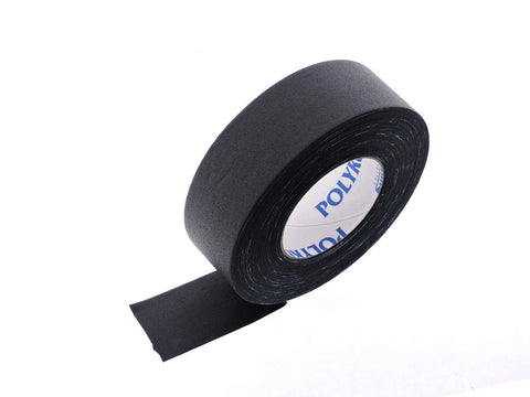 "2"" Black Polyken Floor Audio Video Cloth Gaffers Cord Hold Down Tape 180' 60 yd"