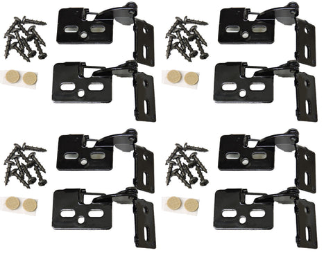"8 Self Closing Hidden Concealed Cabinet Hinge 1/2"" Overlay Black Youngdale #6"