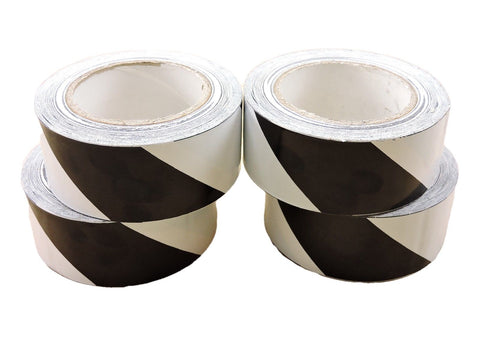 "4pk 2"" Black White Insulated Adhesive Striping Vinyl Electrical Tape 36 yard"