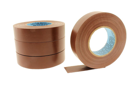 "4pk 3/4"" .75 BROWN Heavy Electrical Tape Wiring Labeling PVC Vinyl Contractor"