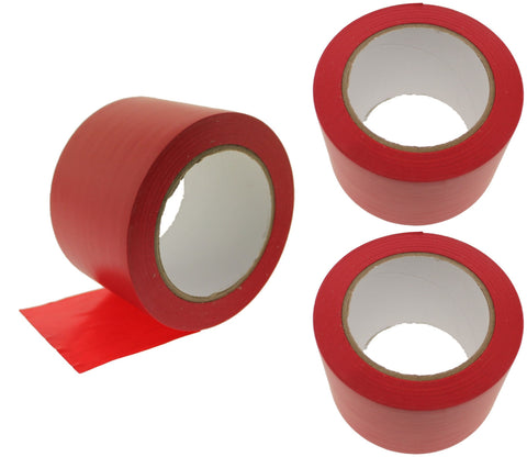 "3x 3"" Red PVC Rubber Vinyl Tape Electrical Sealing Floor OSHA Safety Marking"