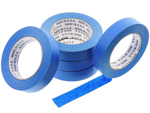 5x USA 1 in inch 60 yd Contractor Blue Painters Tape Paint Masking Easy Release