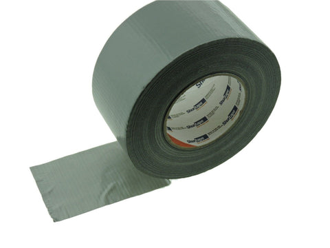 "ShurTape PC599 Silver Gray 9 mil 3"" Cloth Duct Tape Water UV Tear Resistant 60yd"