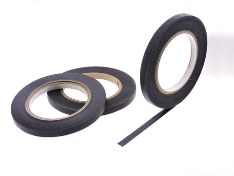 "3pk QUALITY USA MADE .375"" Black Painters Masking Trim Edge Tape 180' 60 yd roll"