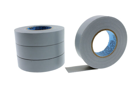 "4pk 3/4"" .75 GRAY Silver Heavy Electrical Tape Wiring Labeling Vinyl Contractor"