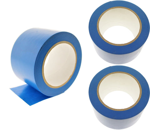 "3x 3"" Blue PVC Rubber Vinyl Tape Electrical Sealing Floor OSHA Safety Marking"