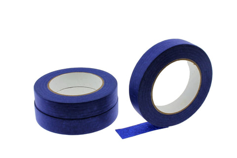 "3 QUALITY USA MADE 1"" Blue Painters Masking Trim Edge Tape 180' 60 yd roll"