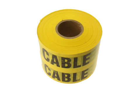"6"" 33KV BURIED CABLE Yellow and Black Caution Barricade Novelty Tape 1000ft"