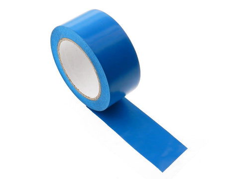 "4x 2"" MEDIUM Blue Insulated Adhesive PVC Pin Striping Vinyl Electrical Tape 36yd"