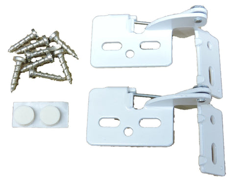 "2 Self Closing Hidden Concealed Cabinet Hinge 1/2"" Overlay White Youngdale #6"
