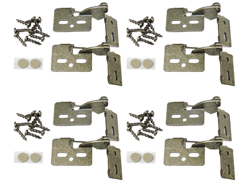 "8 Self Closing Concealed Cabinet Hinge 1/2"" Overlay Antique Brass Youngdale #65"