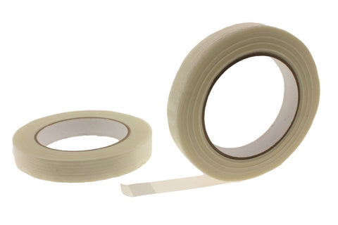 "2x 3/4"" Fiberglass Reinforced Strapping Filament Tape Packaging Moving Bundling"