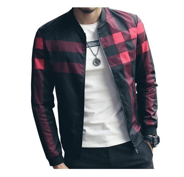 Plaid Jacket Mens Bomber ( 2 colors )
