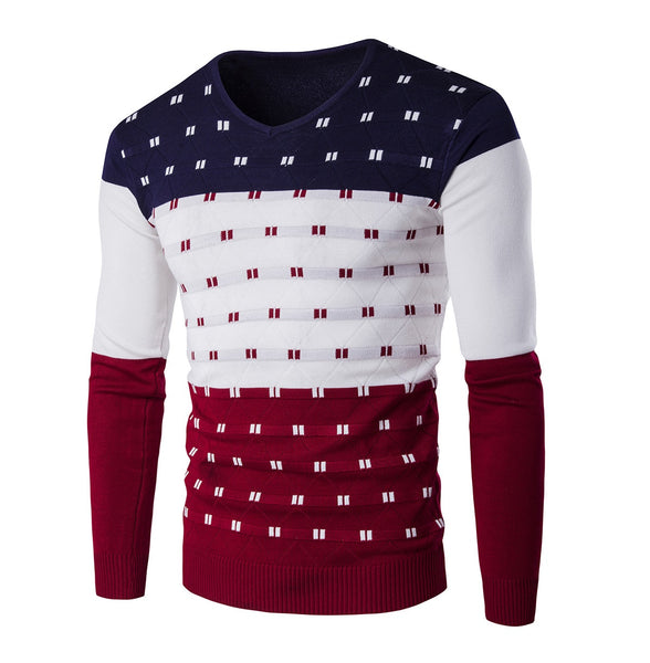 Men's pullover with long sleeves