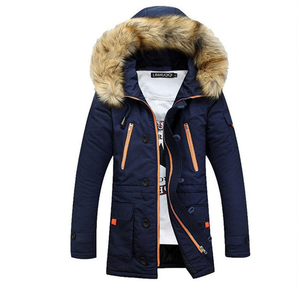 Parka Men Autumn/Winter  Long Hooded 3 colors