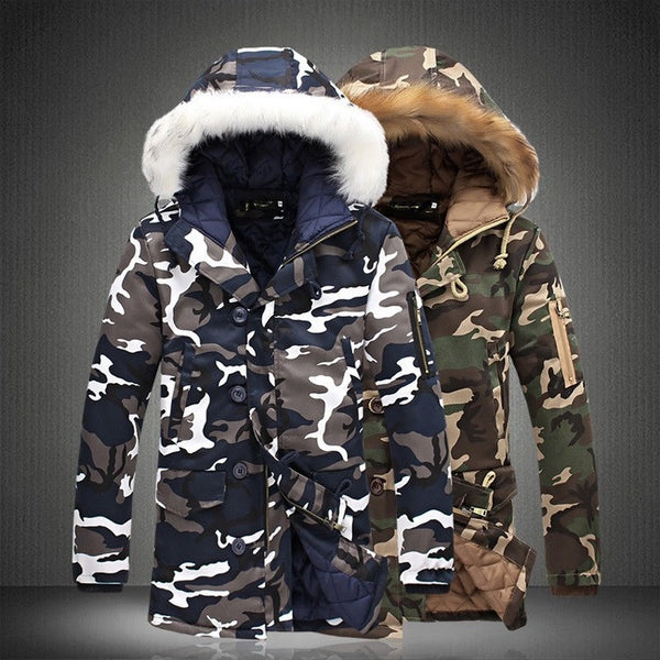 Mens camouflage parka / jacket  2 colors