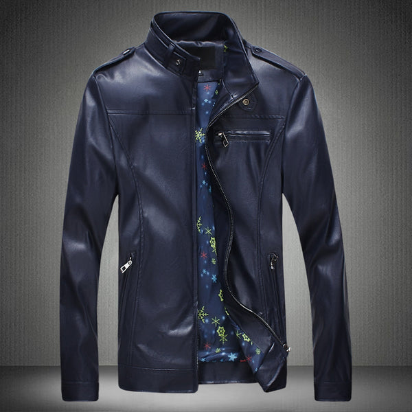 Mens leather jacket 5 colors