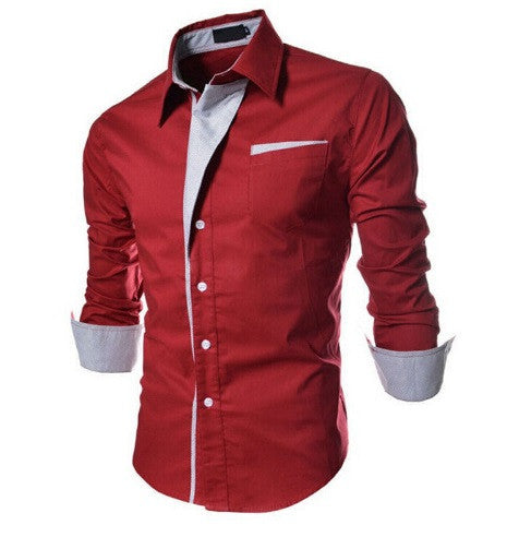 Men's long-sleeved shirts 4 colors