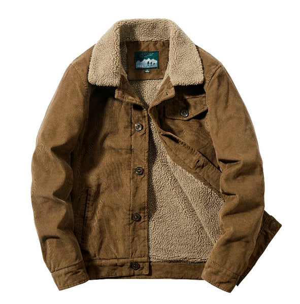 Corduroy Cotton Jacket Men Thick Keep Warm Cashmere Casual Wool