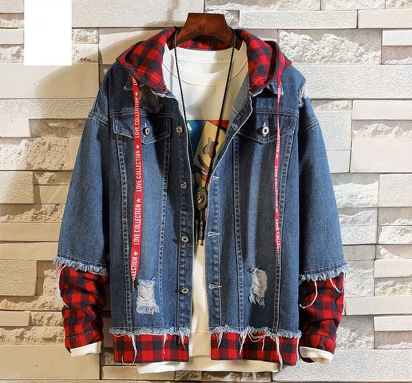 Men's denim jacket 2 colors