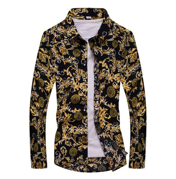 Men's Shirt Long Sleeve Floral