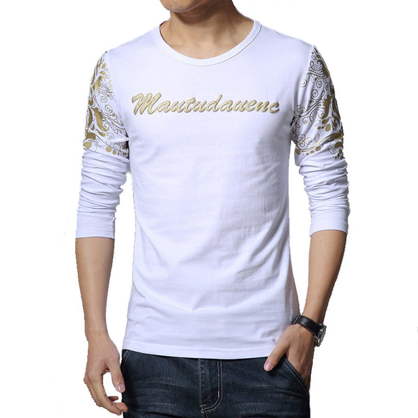 T-shirt Mens  Long Sleeve Print 4 colors