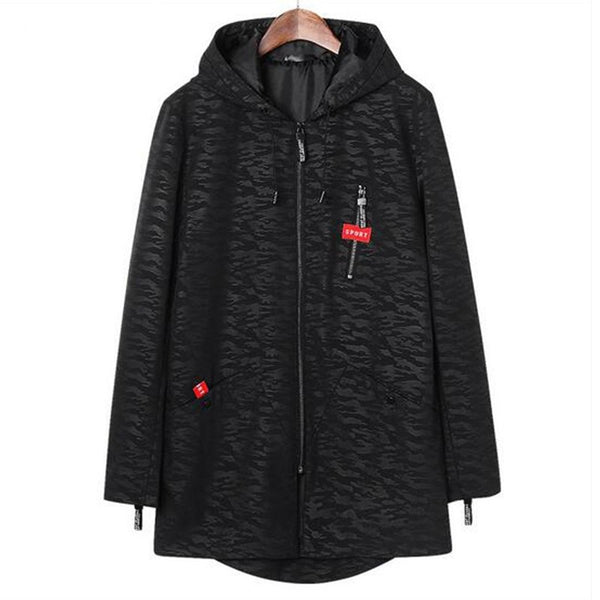 Mens Jackets Long  Hooded  2 colors